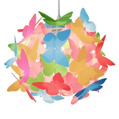 Complete The Look By Browsing Our Variety Of Modern And Contemporary Ceiling Light Shades Ceiling Light Shades, Lamp Shades, Ceiling Lights, Multi Coloured Pendants, Girl Decor, Butterfly, Color, Design, Baby