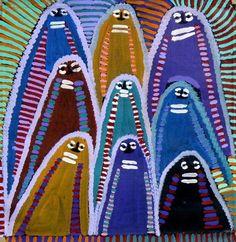 Atham-areny Story by Angelina Ngale (Pwerle). Shop from Utopia Lane Art #AboriginalArt #AngelinaNgale