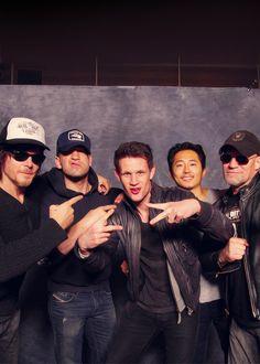 Norman Reedus, Jon Bernthal, Matt Smith, Steven Yeun, & Michael Rooker. Walking Dead AND The Doctor?!? *THUD*