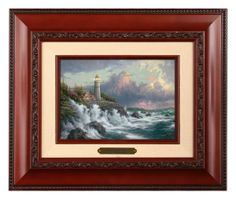Conquering the Storms - Brushwork (Brandy Frame) by Thomas Kinkade