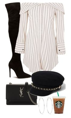 """Starbucks date"" by dmstyll ❤ liked on Polyvore featuring Topshop, Yves Saint Laurent and River Island"