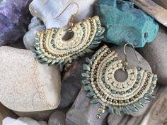 Macrame On Ring Earrings