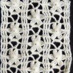 Crochet Punto Calado flor de 6 petalos