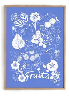 Fruits print by Lisa Grue via Formfröken. Danish Interior, Conversational Prints, Lisa, Interiors Magazine, London Design Festival, Fruit Print, Illustrations, New Print, Paper Design