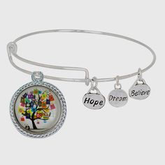 Expandable Bangle Bracelet Chunk Snap Charm Holder Free Charm | Beads and Dangles