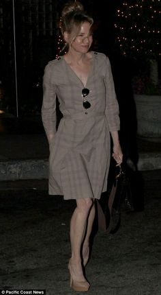 Shrinking frame: Renee Zellweger looked rail-thin when she left the Sunset Marquis hotel in West Hollywood earlier this week