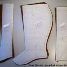 """Victorian spats tutorial """"How to Draft a Pattern for Fitted Gaiters"""""""