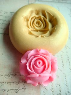Rose Blossom  Flexible Silicone Mold  Push Mold Jewelry by Molds, $4.99