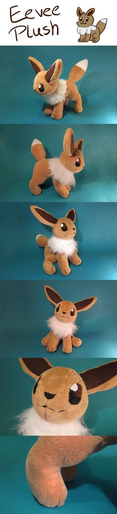 eevee plush with link to pattern and tutorial