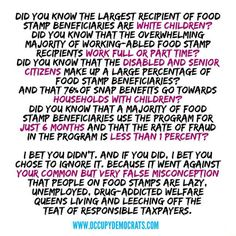 Some Facts That Would Really Help Next Time Your Uncle Wants To Talk About Welfare Fraud