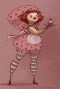 Another quickie for a drawergeeks. Never was much of a Strawberry Shortcake fan when I was little, but she makes for a fun topic. Strawberry Shortcake Characters, Vintage Strawberry Shortcake Dolls, Female Cartoon Characters, Drawing Sketches, Drawings, Art Prompts, Love Illustration, Vintage Cartoon, Memes