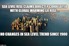 Climate Hoax Claims of Sea Level Rise Directly Correlated with Rise in Global Warming Lies
