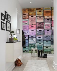 Wall mural R13441 Colour Boxes