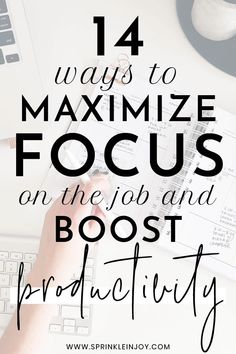 How to stay focused on work: 14 tips to boost productivity Focus At Work, Lack Of Focus, Work Productivity, Productivity Quotes, Increase Productivity, Stay Focused, How To Stay Motivated, Work Goals, Productive Things To Do