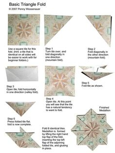 Basic Triangle Fold photo PennyBasicTriangleFold.jpg