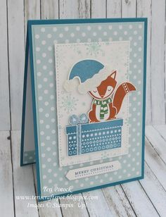 Stampin' Up! - Cozy Critters - Cute Fox .... Teri Pocock - http://teriscraftspot.blogspot.co.uk/2016/11/cozy-critters-cute-fox.html