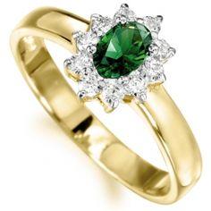 Imperial Tru-Emerald Ring 18ct Gold clad