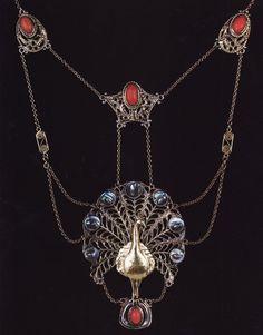 Victorian peacock necklace...love...