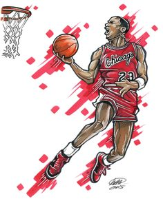 d77610302f8db9 Freelance American illustrator and designer M. Brian Bowens creates cool  artworks inspired by famous athletes. More illustrations Visit his website