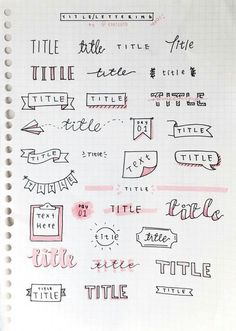 Bullet Journal Setup Ideas {The layouts your BUJO might be missing!} Take your bujo to the next level with these creative Bullet Journal setup ideas (that you can adopt at any time of the year! Bullet Journal Inspo, Organization Bullet Journal, Bullet Journal Headers, Bullet Journal Title Fonts, Bullet Journal Banner, Bullet Journal Beginning, Borders Bullet Journal, Bullet Journal Writing, Bullet Font