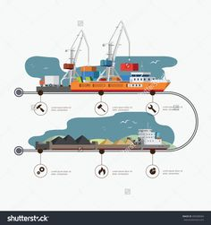 stock-vector-river-port-and-tugboat-with-barge-infographic-time-line-industry-and-train-transportation-concept-400388584.jpg (1500×1600)
