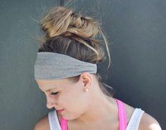 Heather Grey WOD Boho Yoga Workout Headband by RaydiantApparel, $12.50