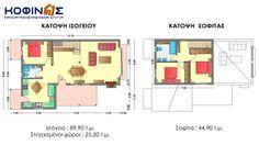 Ισόγεια Κατοικία με Σοφίτα IS-134 | Κοφινας Προκατασκευασμενα Σπιτια