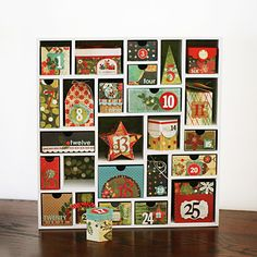 Cutest ever advent calendar using BasicGrey papers & embellishments. Kelly Goree has the magic touch!!