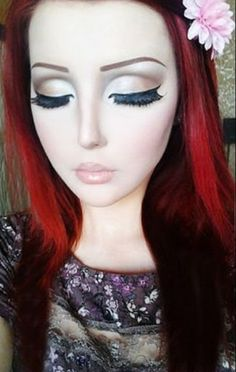 Living doll makeup| Anime girl Anastasiya Shpagina| Harajuku wedding ideas