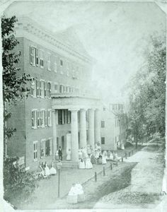 Main Hall in the 1800s. Kinda looks the same minus the big dresses and add in a few cars.