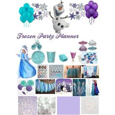 Frozen Party Planner, created by frostedevents on Polyvore