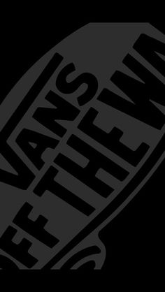 Black Vans Off The Wall Logo Picture White Wallpaper HD For iPhone 5 High Quality
