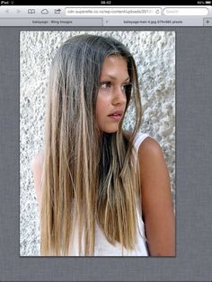 Balayage hair love the colour, cut and her skin tone :0
