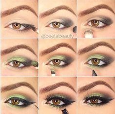 Makeup Organizer Cases Make-up Pinsel Bedeutung - Makeup Tutorial James Charles Eye Makeup Steps, Makeup Eye Looks, Makeup For Green Eyes, Smokey Eye Makeup, Eyeshadow Makeup, Makeup Brushes, Green Eyes Pop, Makeup Eyes, Eye Makeup For Hazel Eyes
