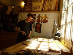 Yann Poulain in his studio