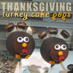 How To Make Thanksgiving Turkey Cake Pops - sugarkissed