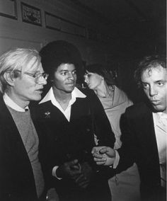 Andy Warhol, Michael Jackson and Steve Rubell at the Studio 54, 1977