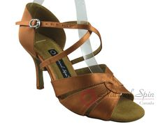 Natural Spin Signature Latin Shoes(Open Toe):  H1170-02_DrTanS