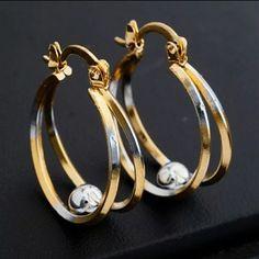 18k gold plated earrings 18k gold plated earrings brand new Jewelry Earrings
