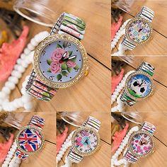 Creative-Women-Crystal-Steel-Elastic-Band-Round-Quartz-Watch-Analog-Wristwatch