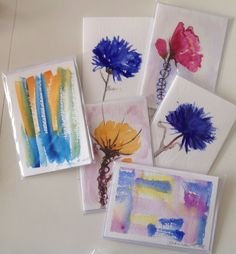 Watercolorcards 2015, sign by Gabriella Alanko