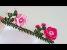 3 Boyutlu Tığ Oyası Yapımı - YouTube Crochet Borders, Crochet Squares, Crochet Doilies, Crochet Flowers, Crochet Lace, Baby Knitting Patterns, Crochet Patterns, Crochet Flower Tutorial, Flower Video