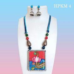 Fabric Earrings, Fabric Jewelry, Diy Earrings, Clay Jewelry, Mural Painting, Fabric Painting, Teracotta Jewellery, Silk Thread Bangles Design, Terracotta Jewellery Designs