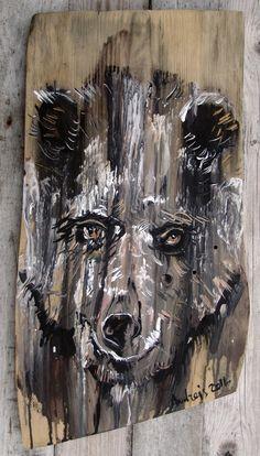 2016.12.5. The Bear acrylic/wood desk, 52x28x2,5 cm https://www.facebook.com/andrey.bovtovich