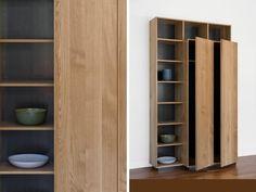 Ivy Cabinet, white oak and blackened steel; shelf design / Union Studio