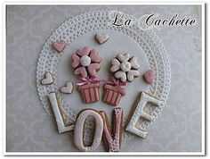 Flower & Love cookies by la-cachette, via Flickr
