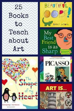 25 Amazing Books for Teaching about Art   By Marcia Beckett    Art Books for Kids... MY list of favorite books for teaching about art.  I highly recommend checking them out through the library first to see if they are going to be useful for your curriculum and particular teaching situation.