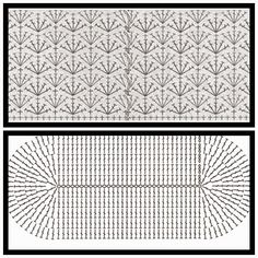 Resultado de imagem para grafico de fundo de bolsa oval de croche