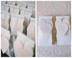 Bridal Shower Favors decorated with hearts - 'Blushing Bride' Essie nailpolish!