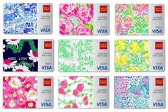Lilly Pulitzer Visa cards from Wells Fargo  switching to wells fargo brb